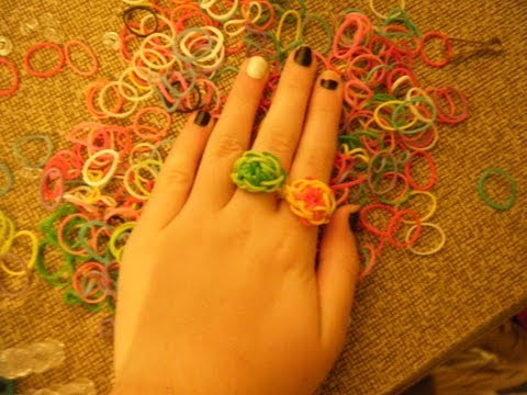 Starburst Ring Using the Rainbow Loom