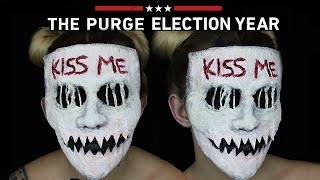 Kiss Me Purge Mask Halloween SFX Makeup Tutorial | THE PURGE MINI SERIES