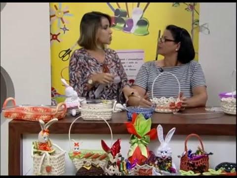 Mulher.com 15/01/2013 Carmem Freire - Cestinha de páscoa em crochê endurecido 2/2
