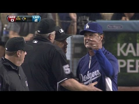 Kershaw ejected after hitting Parra - September 14, 2011