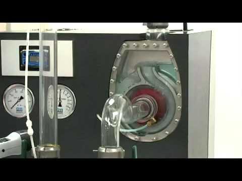 Funcionamiento de una bomba centrifuga autocebante
