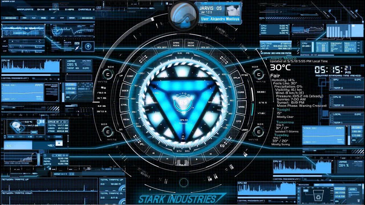Stark industries desktop youtube - Iron man jarvis background ...
