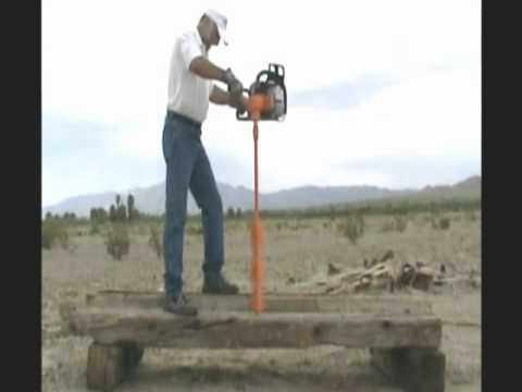Lewis Multi Drill Drills Through Thick Wood Using Long