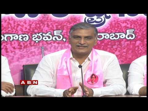 చంద్రబాబుకు హరీశ్రావు బహిరంగ లేఖ | TRS Minister Harish Rao Press Meet Live From Telangana Bhavan