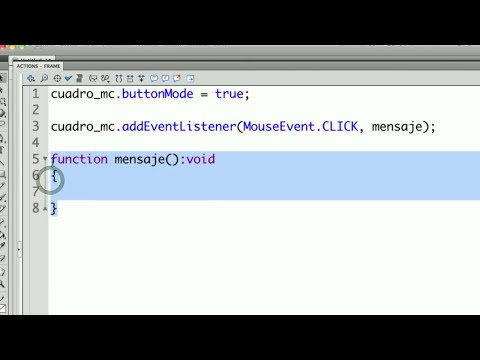 Agregar funcionalidad a un botón en Flash con ActionScript 3