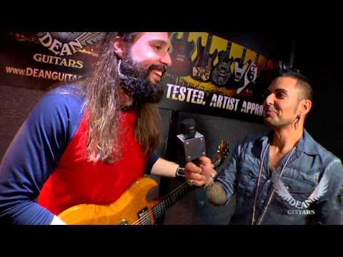 Dean Guitars' Artist Eddie Veliz of Kyng jams on the Dean Guitars USA Gran Sport Korina LE.