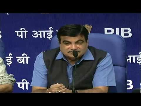 Press Conference by Shri Nitin Gadkari: 15.09.2014