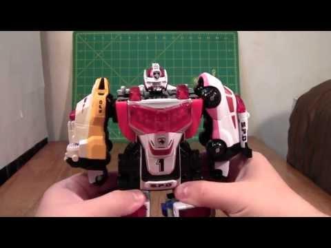 Power Rangers SPD Delta Squad Megazord Review (Tokusou Sentai Dekaranger Robo Toy)