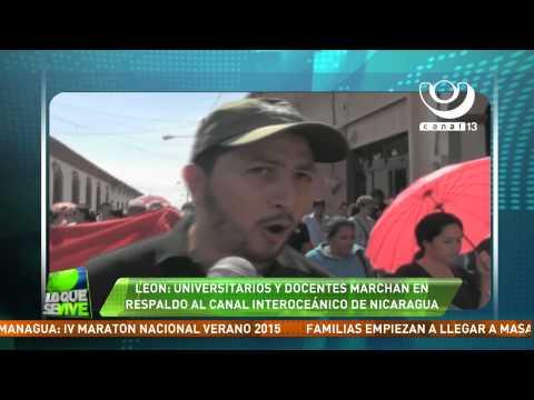 Universitarios y docentes de León marchan a favor del Canal Interoceánico