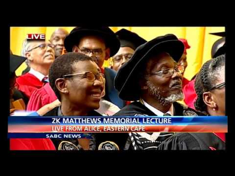 Dr Mangosuthu Buthelezi delivers ZK Matthews Memorial lecture