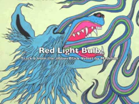 """06 """"Red Light Bulb"""" by Madeline on Black Velvet"""