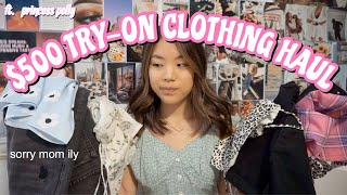 $500 SUMMER TRY-ON CLOTHING HAUL (sorry mom)