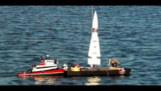 Model Rocket w/Camera Crashes At Sea