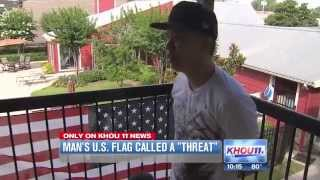 Man says apartment complex called his US flag a