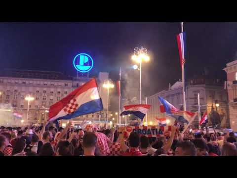 Croatia fans celebrate second place in the World Cup 2018, Zagreb, 15.07.2018., Part 5. thumbnail