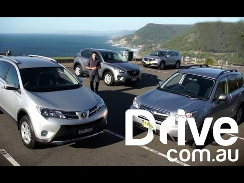 CRV v CX-5 v Forester v RAV4 2013 | SUV Comparison | Drive.com.au