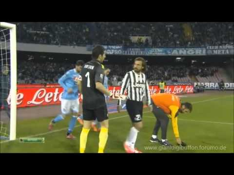 Gianluigi Buffon amazing Saves vs Napoli