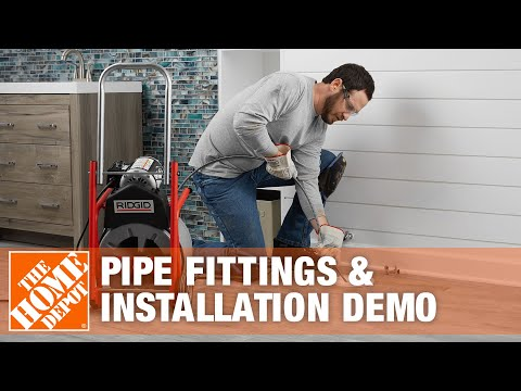 SharkBite Push-to-connect Pipe Fittings & Installation Demo