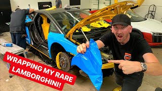 WRAPPING MY RARE LAMBORGHINI! *SUPERCAR TEARDOWN*