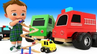 Little Baby Fun Learning Toy Street Vehicles Names Wooden ToySet 3D Kids Toddlers Educational