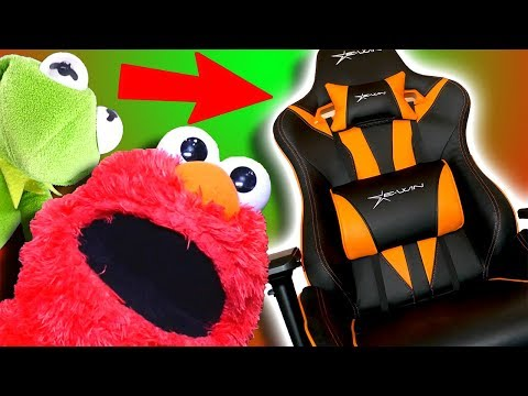 eWin Racing Chair REVIEW Ft Elmo and Kermit The Frog!
