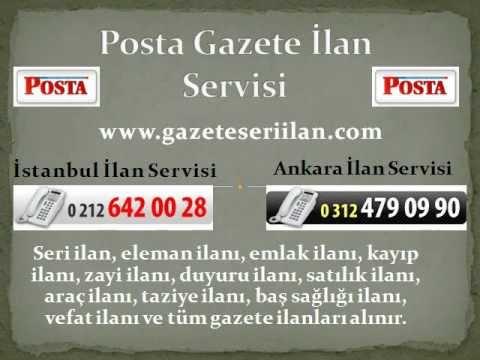 ** 0212.642.00.28 ** Postaya İlan, www.postagazeteilan.com