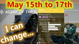 Destiny - Xur's new hiding spot - May 15th to May 17th - Truth