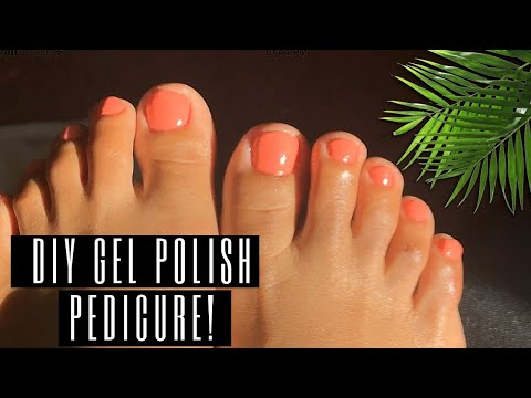 DIY Pedicure AT HOME! | Affordable + EASY! - YouTube