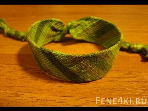 Как фенечки косым плетением