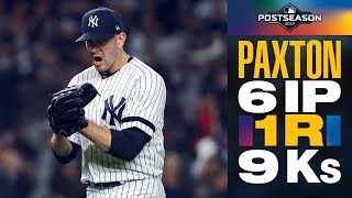 Yankees' James Paxton: Tough as nails vs Astros in ALCS elimination game (6 IP, 1 R, 9 Ks)