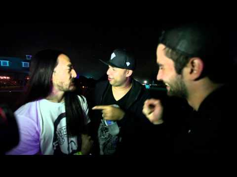 TomorrowWorld backstage with Dyro, Steve Aoki & Sidney Samson