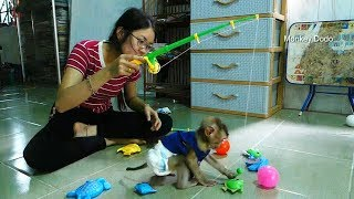 Dodo Get A New Toy Game, Dodo Play Fishing With Mom