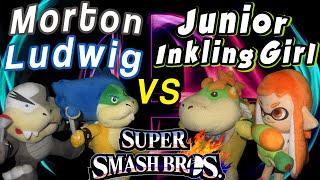 ABM: Bowser Jr & Inkling Girl Vs Ludwig & Morton!! SUPER SMASH BROS!! HD