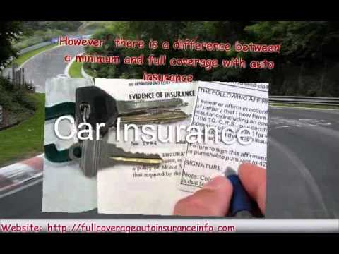 Full Coverage Auto Insurance Info