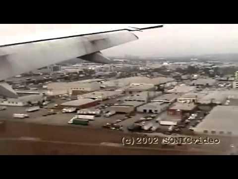 Landing At Los Angeles Airport B777   October 2002