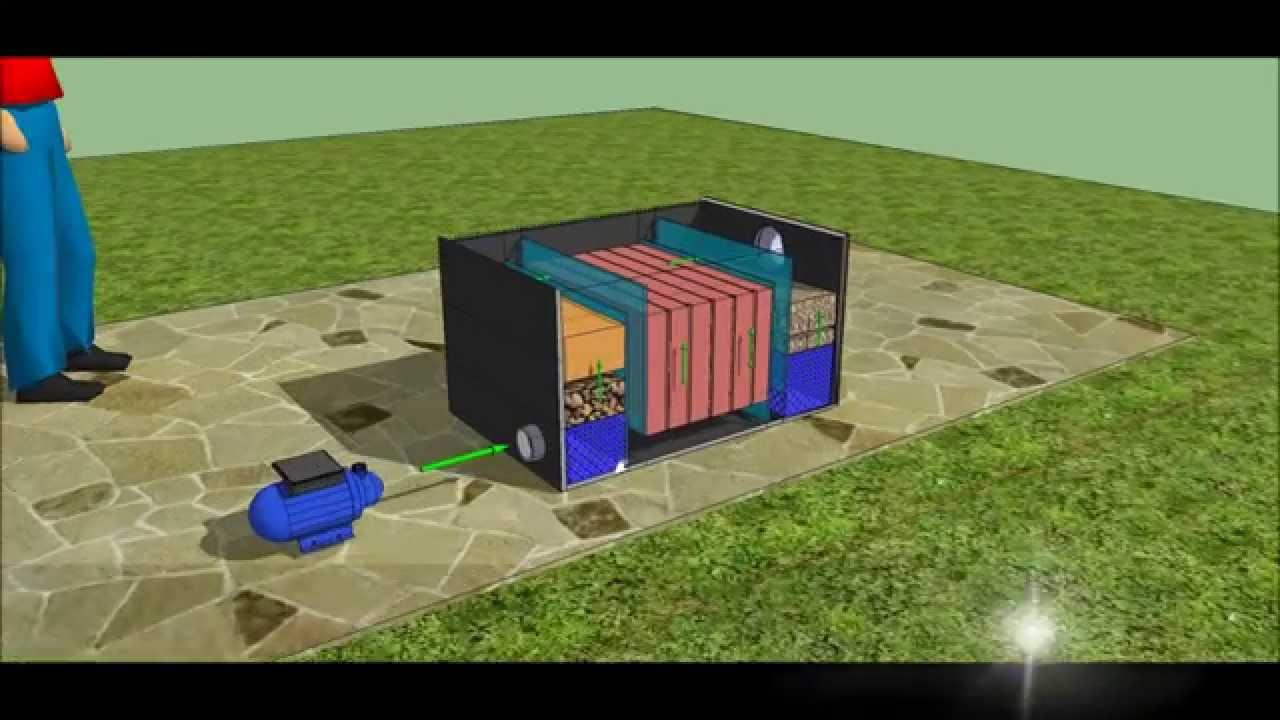 Diy pond bio filter design template youtube for Biological filter media for ponds