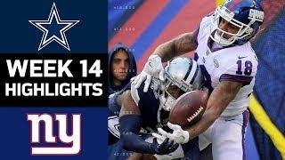 Cowboys vs. Giants  NFL Week 14 Game Highlights