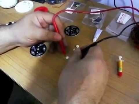 Lampara con led de alta potencia casera youtube - Como hacer una lampara de mesa casera ...