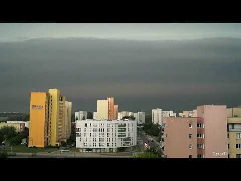 Potężna Burza W Warszawie (MCS) -10.08.2017- Powerful Thunderstorm Warsaw
