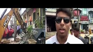 Enforcement Director Vishwajit On GHMC Removing Encroachments On Footpaths