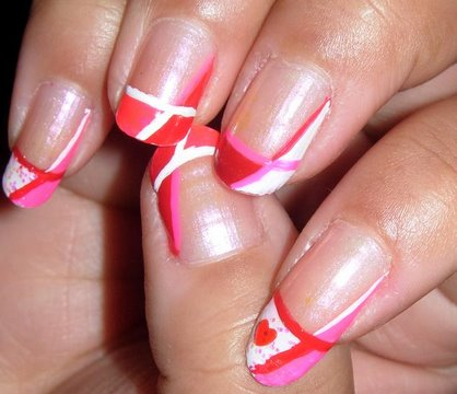 Pink, White, and Red Valentine's Day Nail Tutorial!