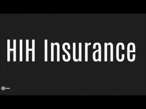 report into collapse hih insurance The hih claims support scheme  naomi bourne and martin foo1 the collapse of the hih insurance group in  less than three months after hih was placed into.