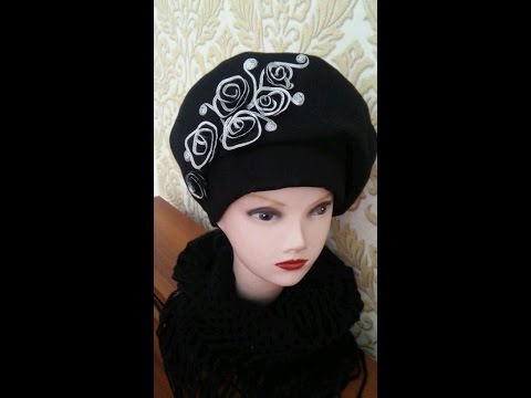 Берет и кепи крючком (Crochet: beret and cap) hcdin.ru