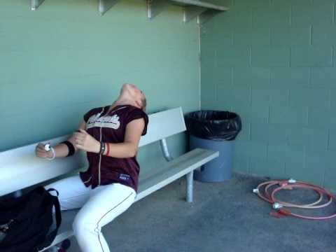 softball girls can spit? Video