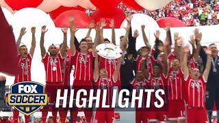 Bayern Munich celebrates their 5th consecutive Bundesliga title win | 2016-17 Bundesliga Highlights