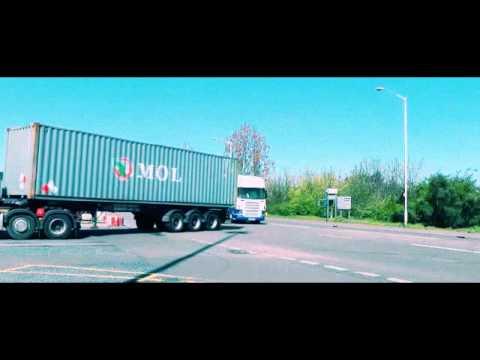 Tilbury Docks Container trucks