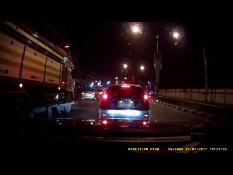 รีวิวกล้องติดรถยนต์ Morestech M100 ตอนกลางคืน