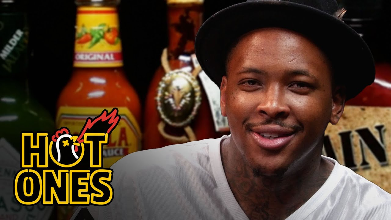 """Wasn't Fazed: YG Keeps His Cool Trying Really Hot Sauces During """"Hot Ones"""" Interview!"""
