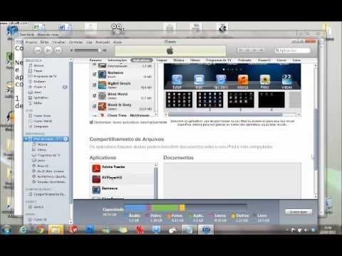 Como transferir arquivos entre PC e iPad