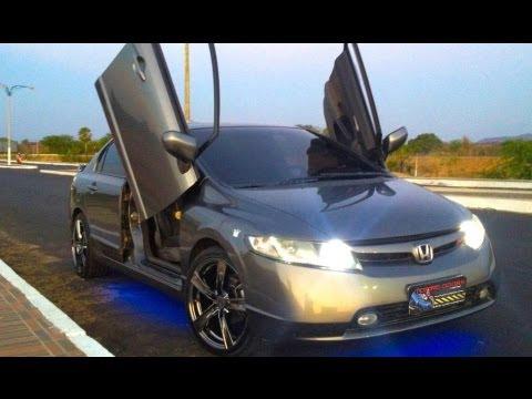 Honda Civic com lambo door Tuning doors - Portas verticais